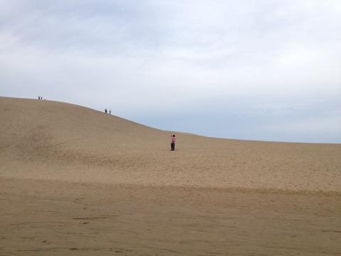 砂丘に感動