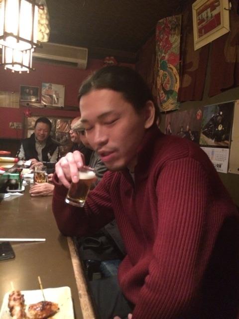 懐かしい方と飲み