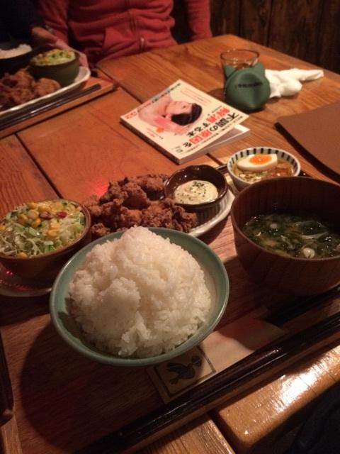 大満足の定食