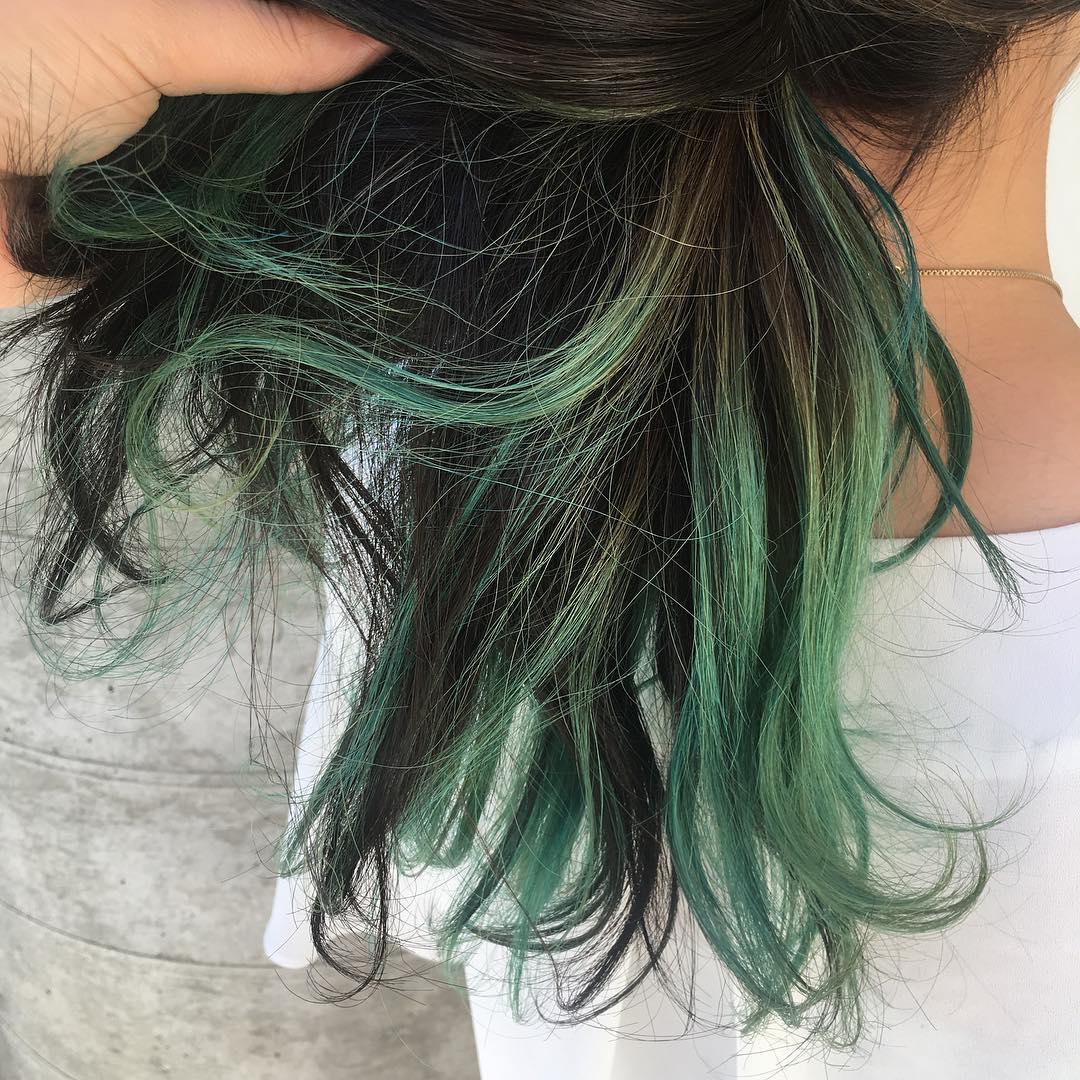 green color ・ ・ colorで楽しむお客様が増えています! ・ ・ bleach color 11880〜 ご相談ください! ︎0272102115
