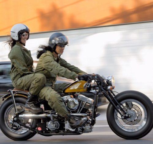 妻とバイク